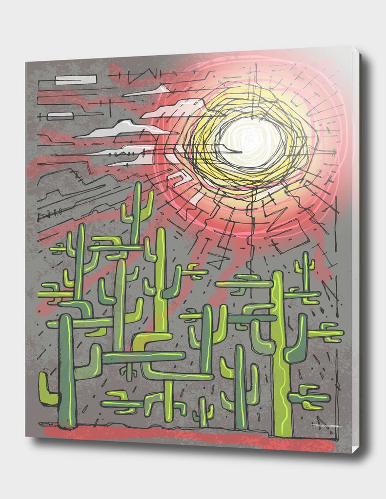 Fractal cactus illustration