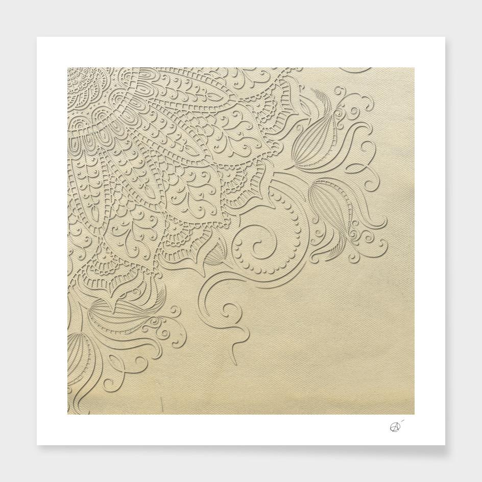 Mandala - Ghost canvas