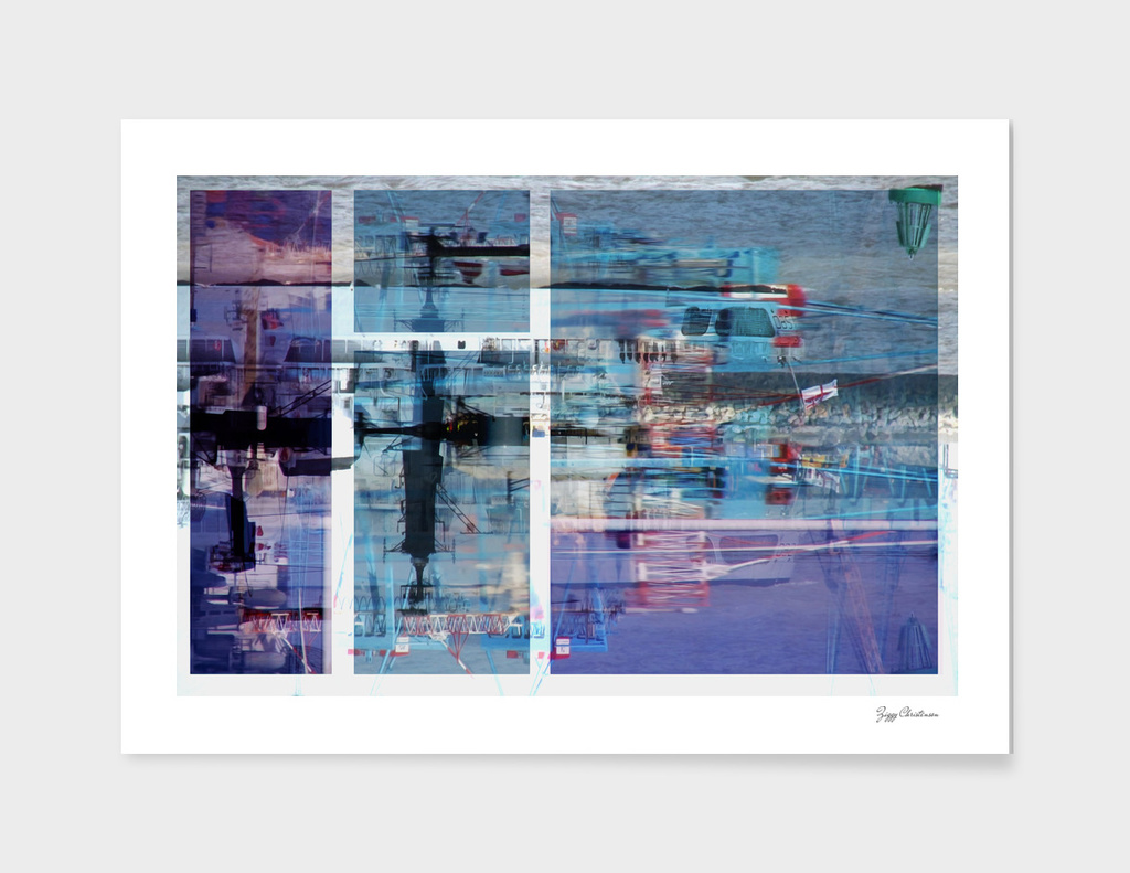 HMS Liverpool(Blue Abstract)
