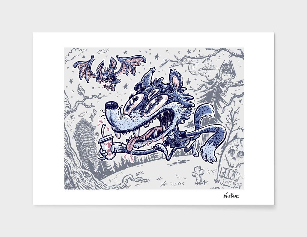 Wolfy and Batzo Strolling Through the Boneyard