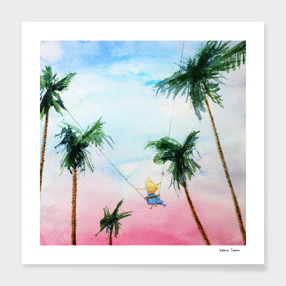 Summer dreams || watercolo