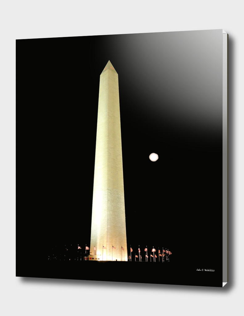Washington Monument and Blue Moon