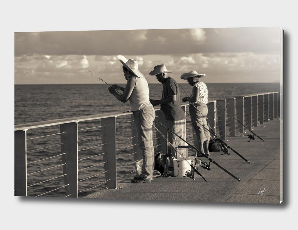 Fishing on Pier