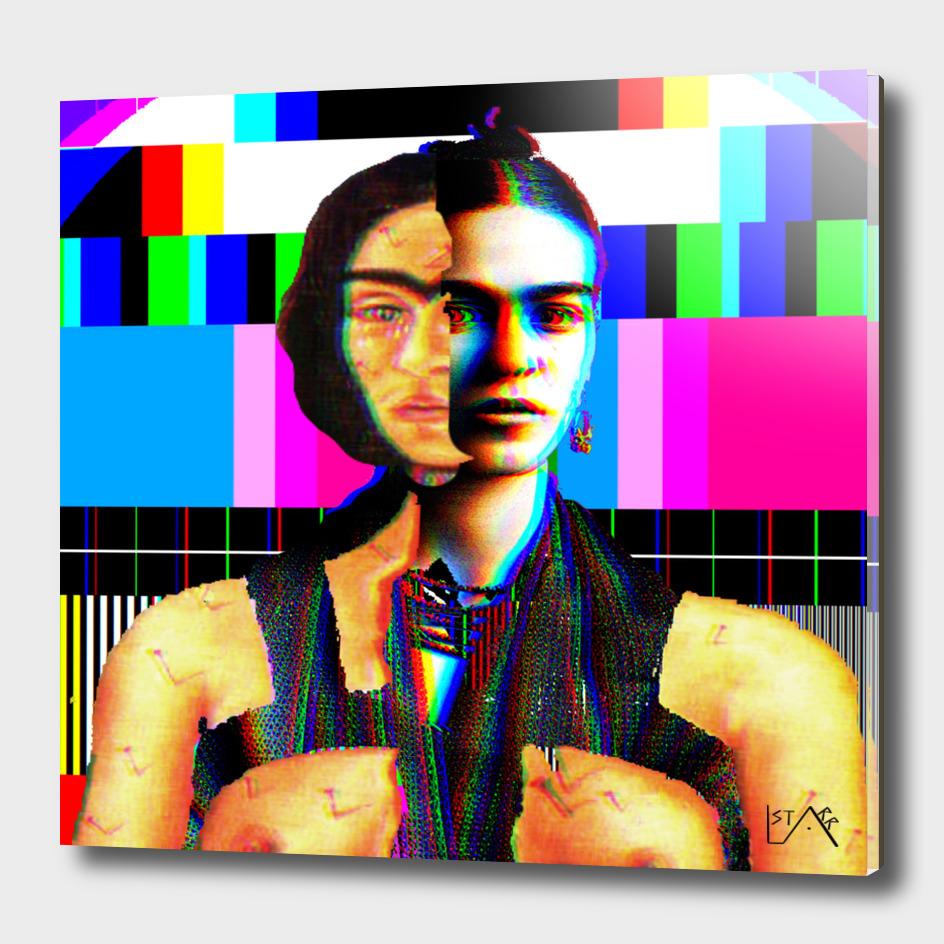 Frida Kahlo BroKen Column in colour