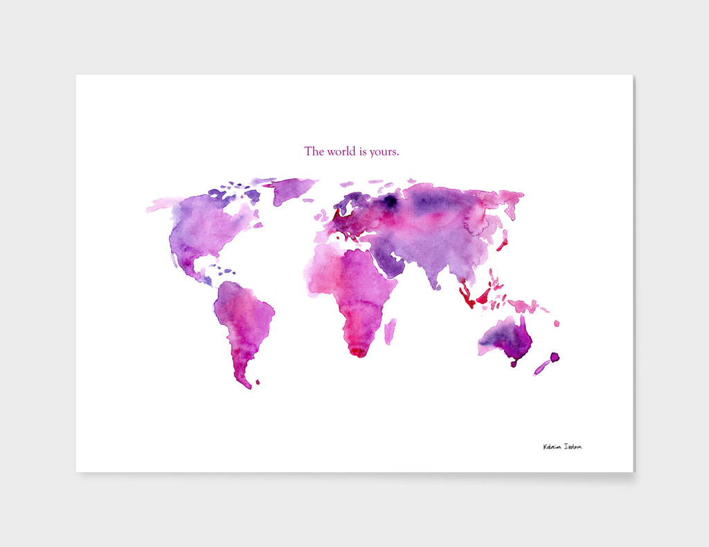 The world is yours || watercolor