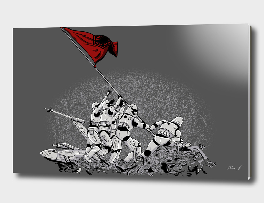Rising the flag in Jakuu