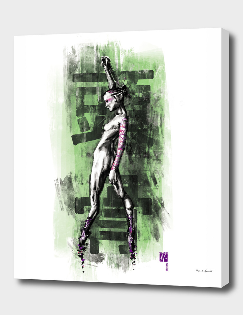 GreenSkull (Naked Ballerina No1)