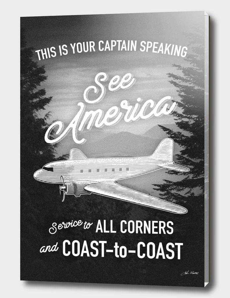 See America Flight Travel Poster