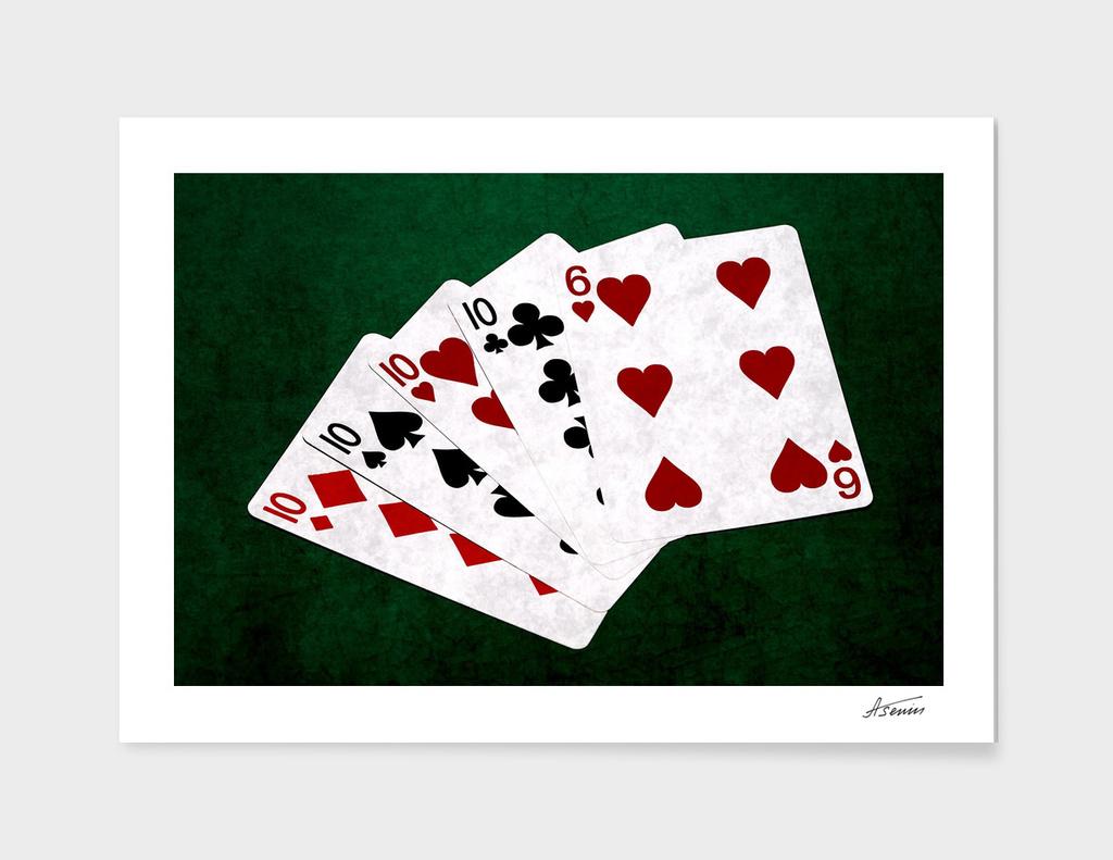 Poker Hands - Four Of A Kind Ten Six