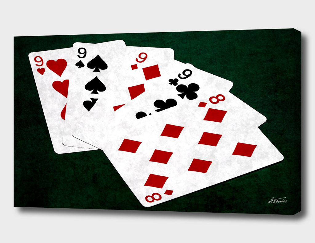 Poker Hands - Four Of A Kind Nine Eight