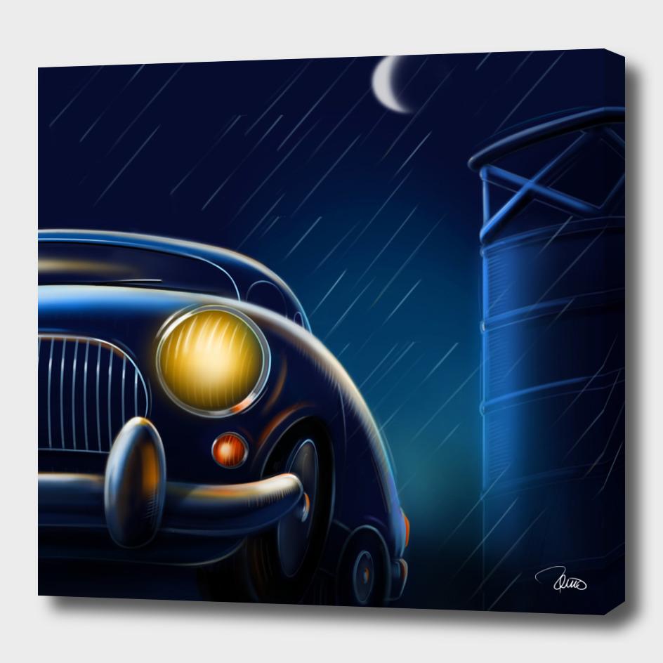 car in the dark