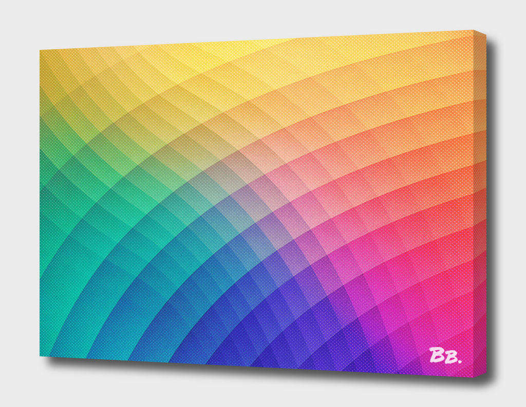 Spectrum Bomb Fruity Fresh - Colorful Experimental Pattern