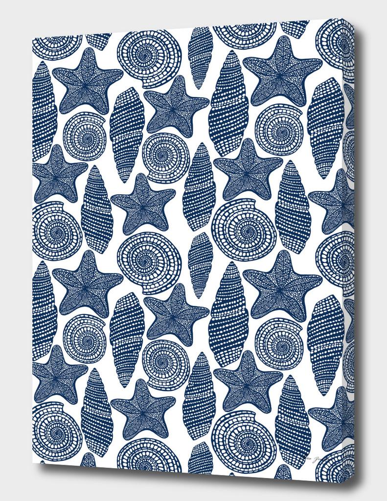 Blue shells and starfish