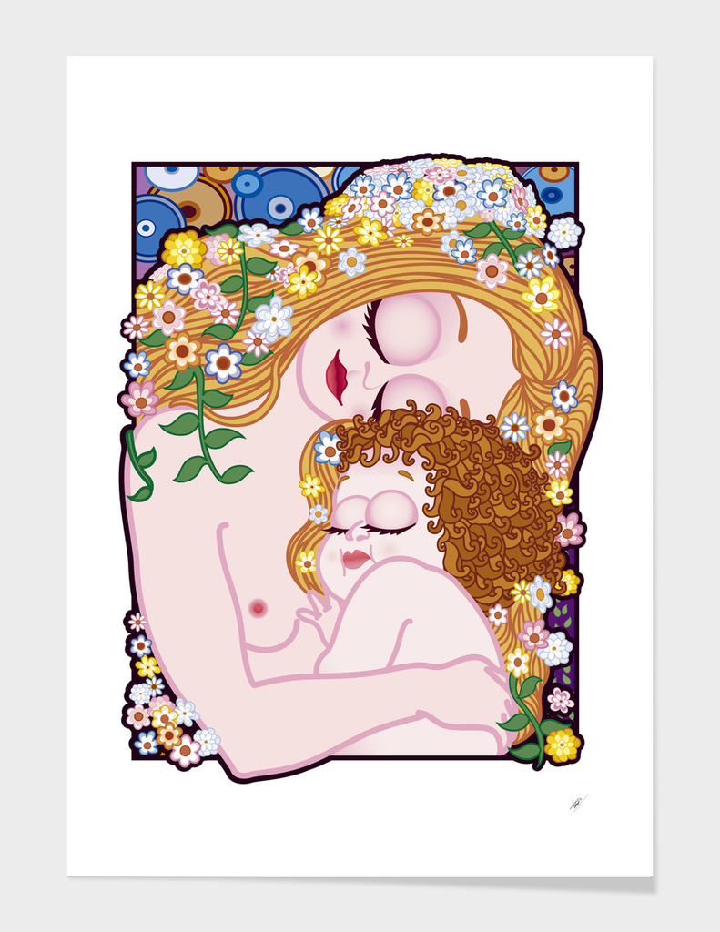 Maternity of The Three Ages of Woman (Klimt) FNG version