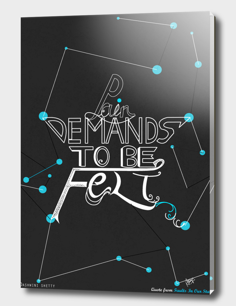 Faults In Our Stars Quote Poster