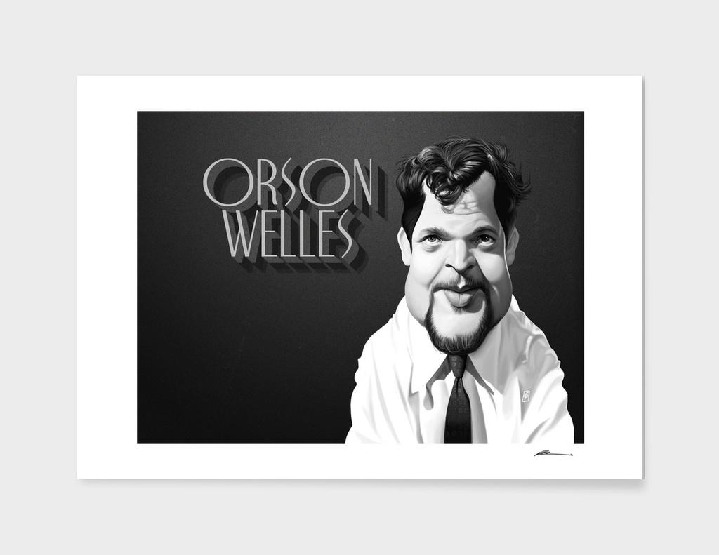 Orson Welles - vintage movie card