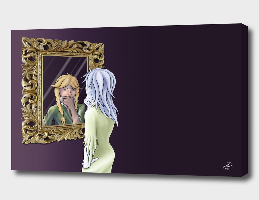 Phantom seeing her mirror image