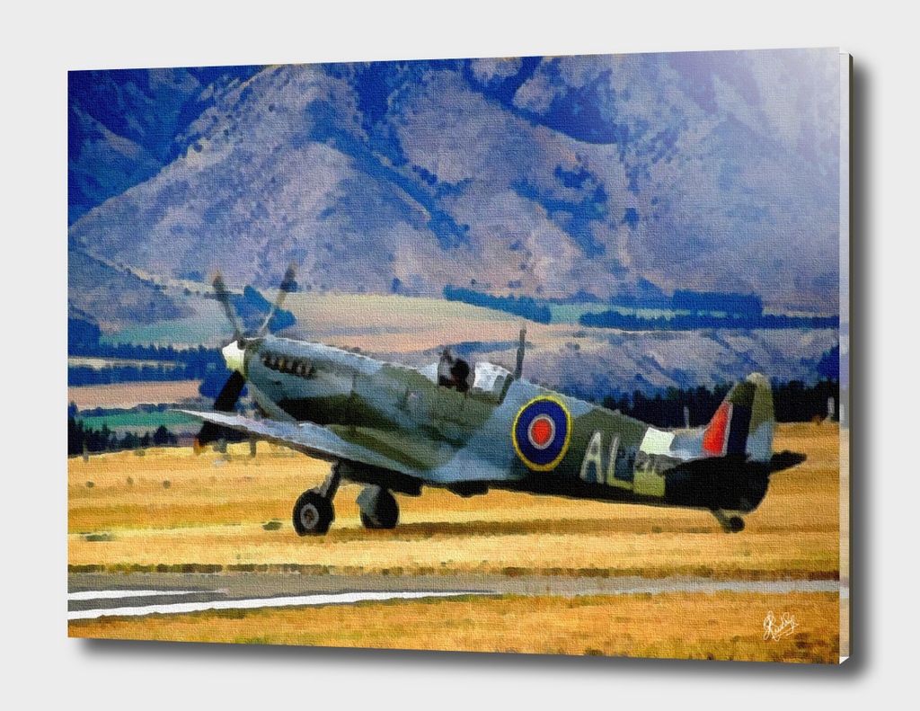 AVIATION ART - WORD WAR II SPITFIRE