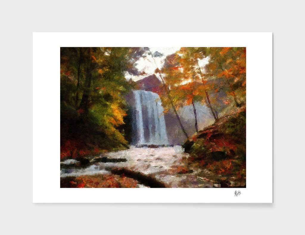 MONET-CALIA C1N2 :WATERFALL SCENE N 1 - AUTUMN RIVER DREAMS,