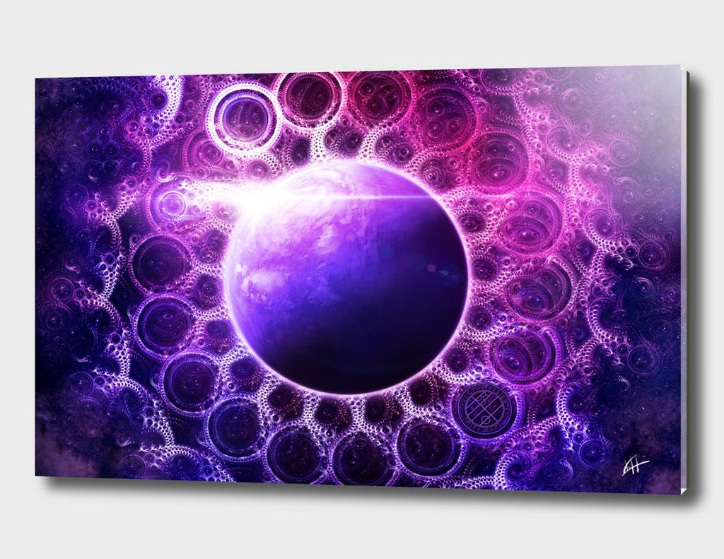 Deep Dream Fractal Mandala -- Deep Space Dreamer