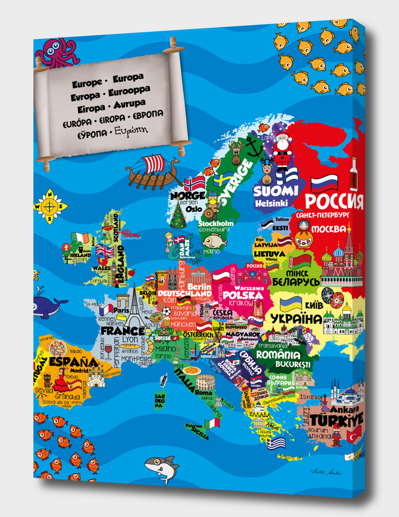 Illustrated Map of Europe