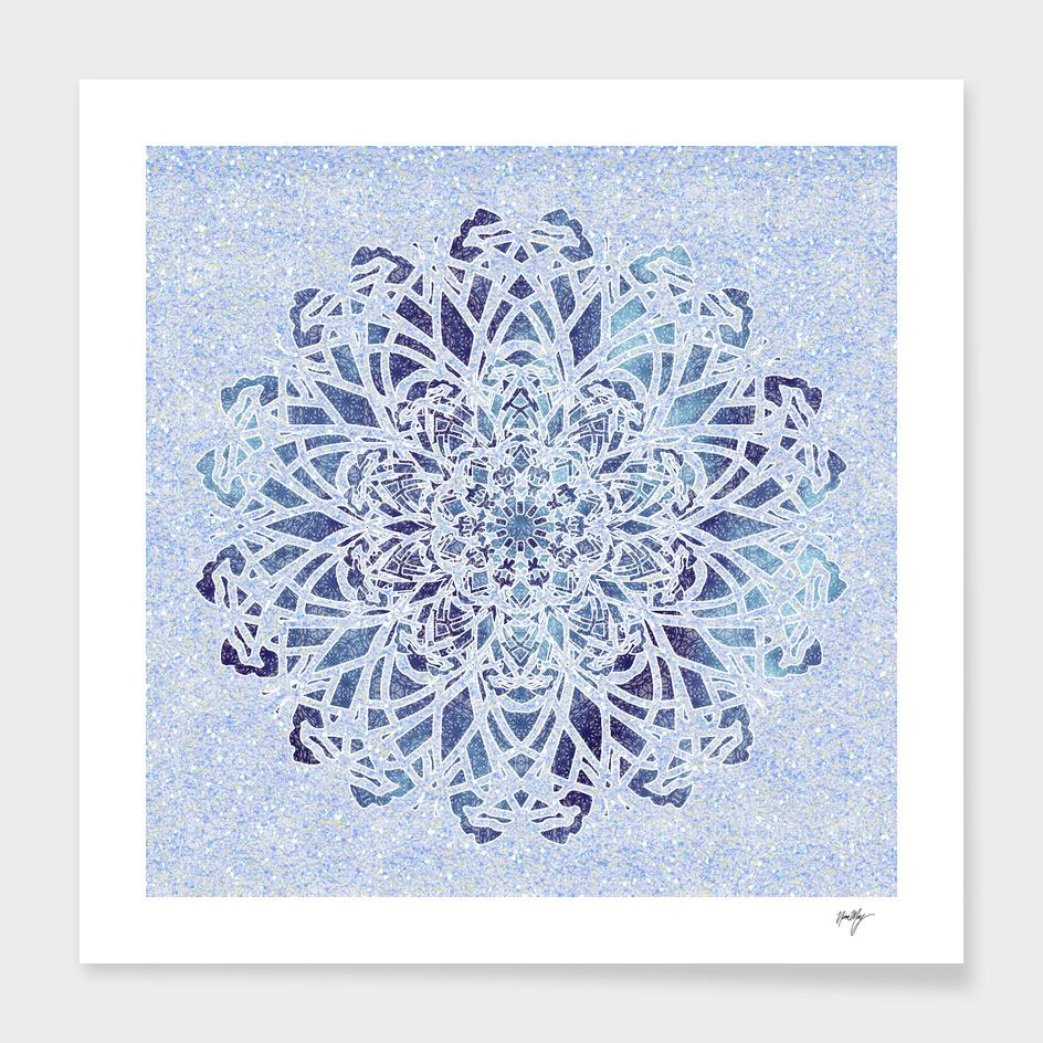 Frozen frost Water Mandala