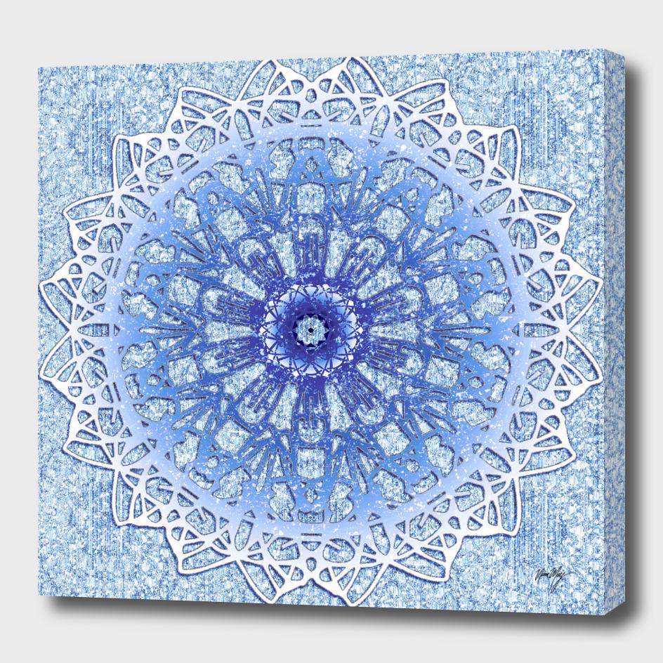 Frozen Blue Mandala
