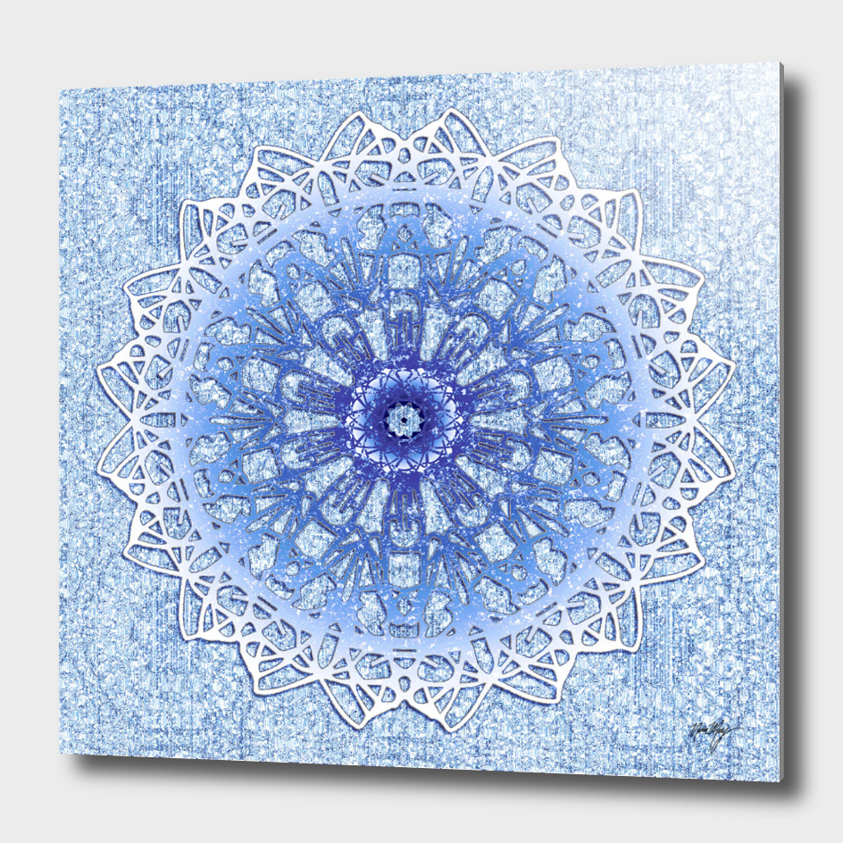 Frozen Blue Mandala