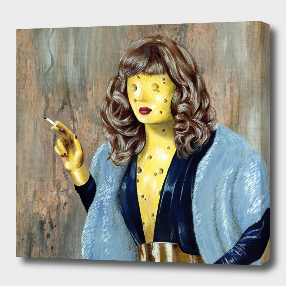 Smoking Swiss Cheese Lady