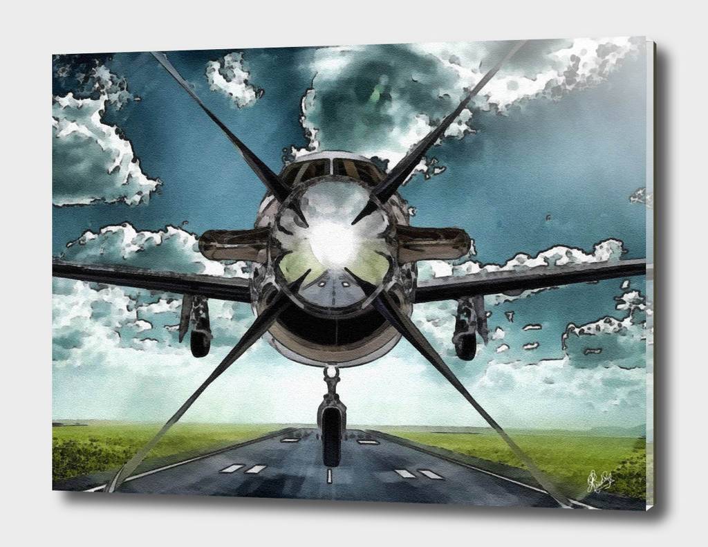AVIATION ART - PILATUS PC 12