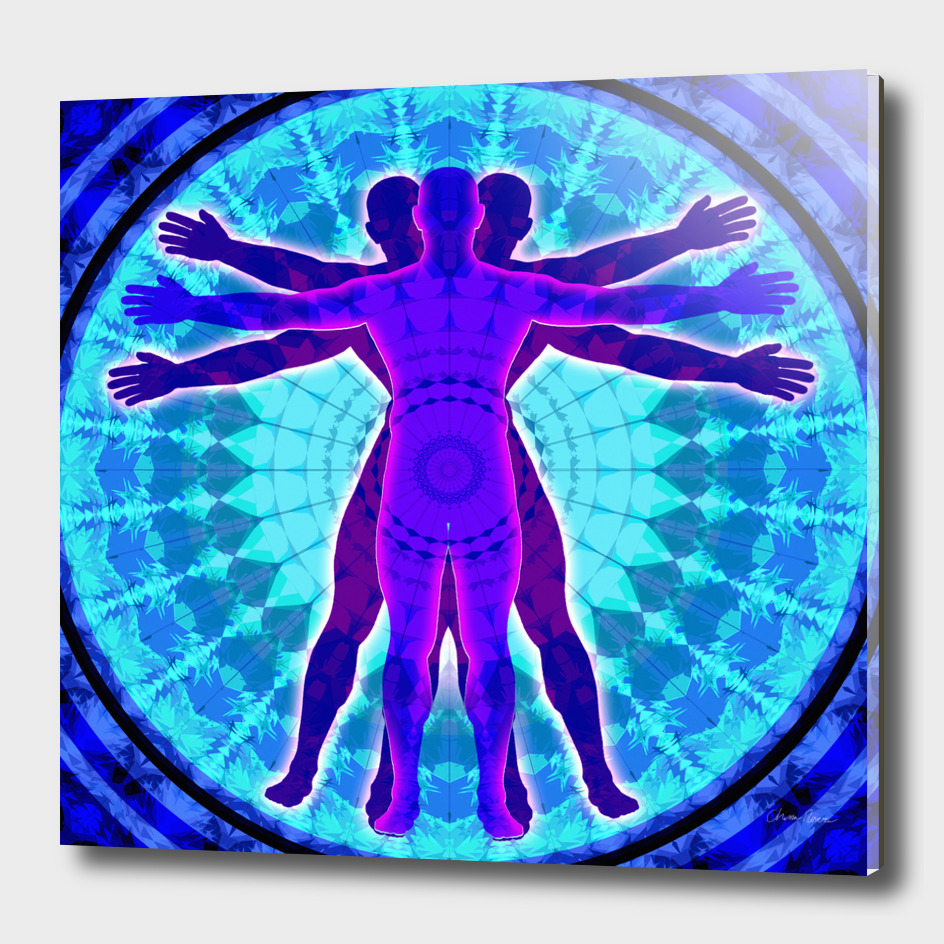 Vitruvian Triplex Mandala