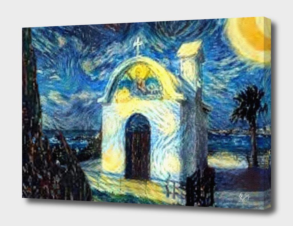 VAN GOGH-CALIA C1N2 - SMALL GREEK CHURCH AT NIGHT N1