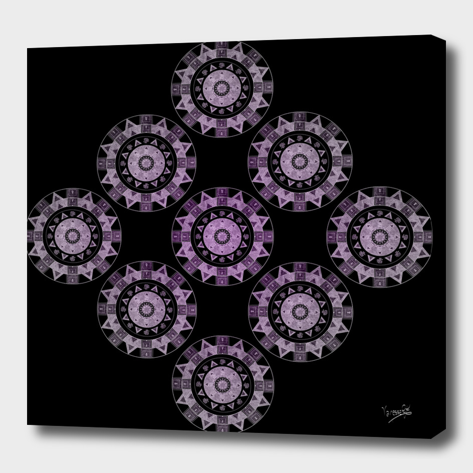 Ethnic mandalas in purple