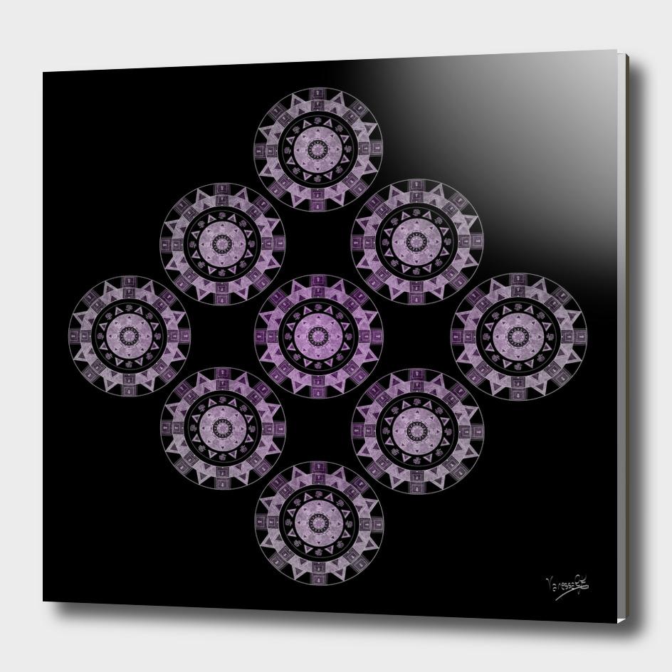 Ethnic mandalas in purple