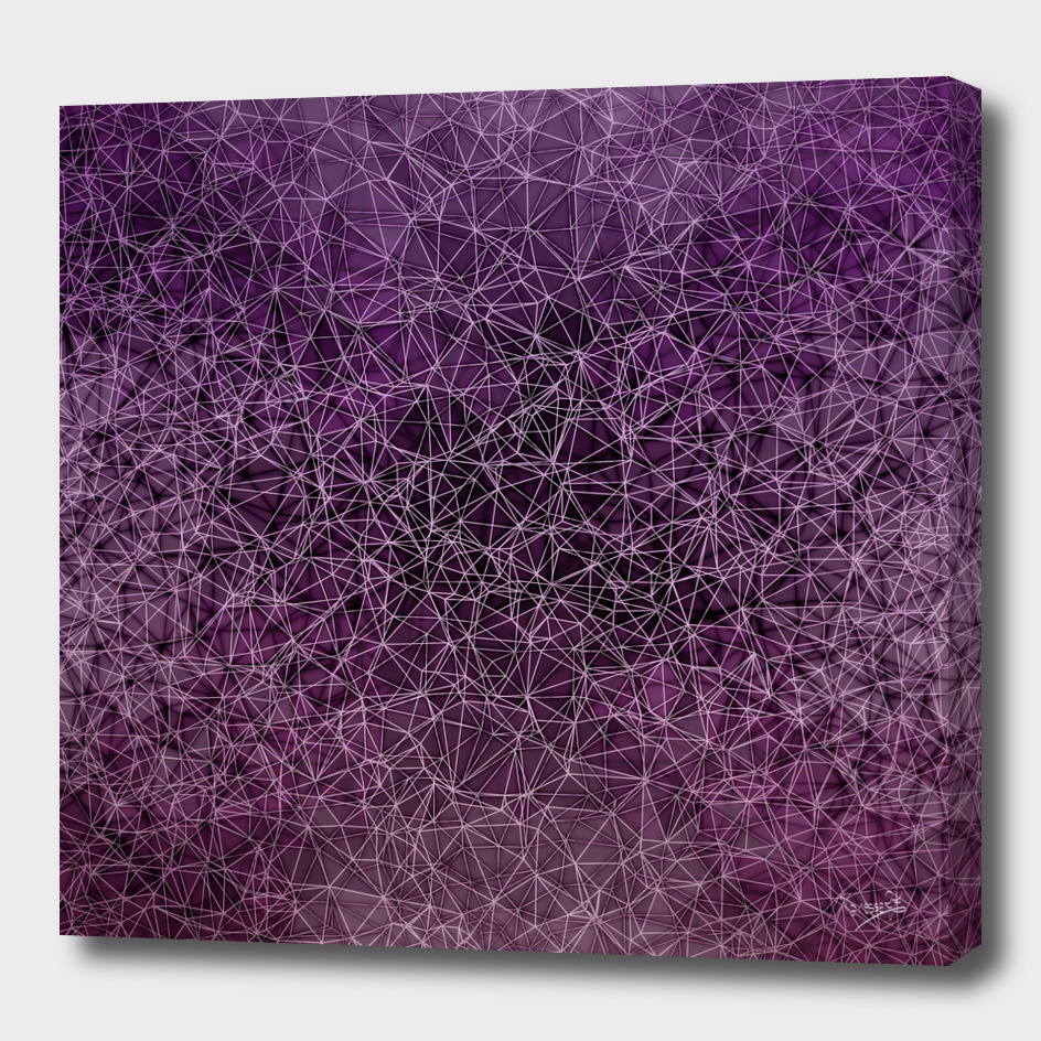 Mesh polygonal purple and pink
