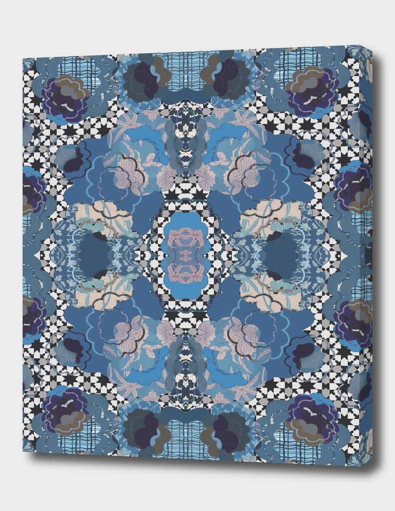 Blue Decorative Patchwork