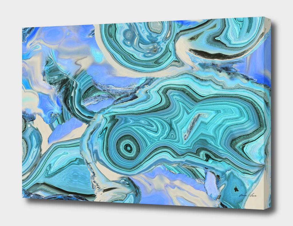 Blue Agate Marble