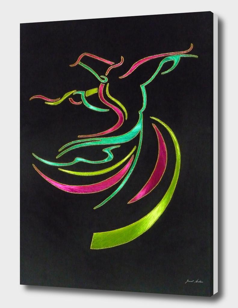rumi style dancer