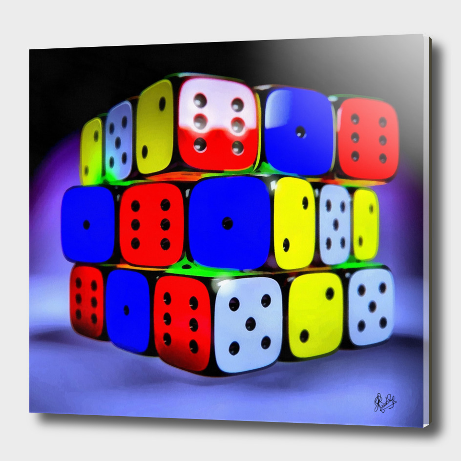 HYPER-REALISTICALIA C1N3 - MAGIC DICE CUBE (SQUARE)