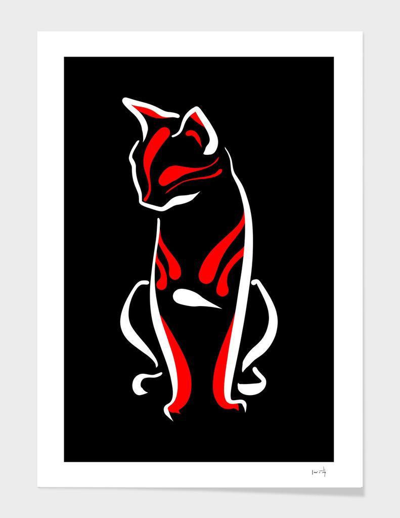 Kabuki Cat - Dark