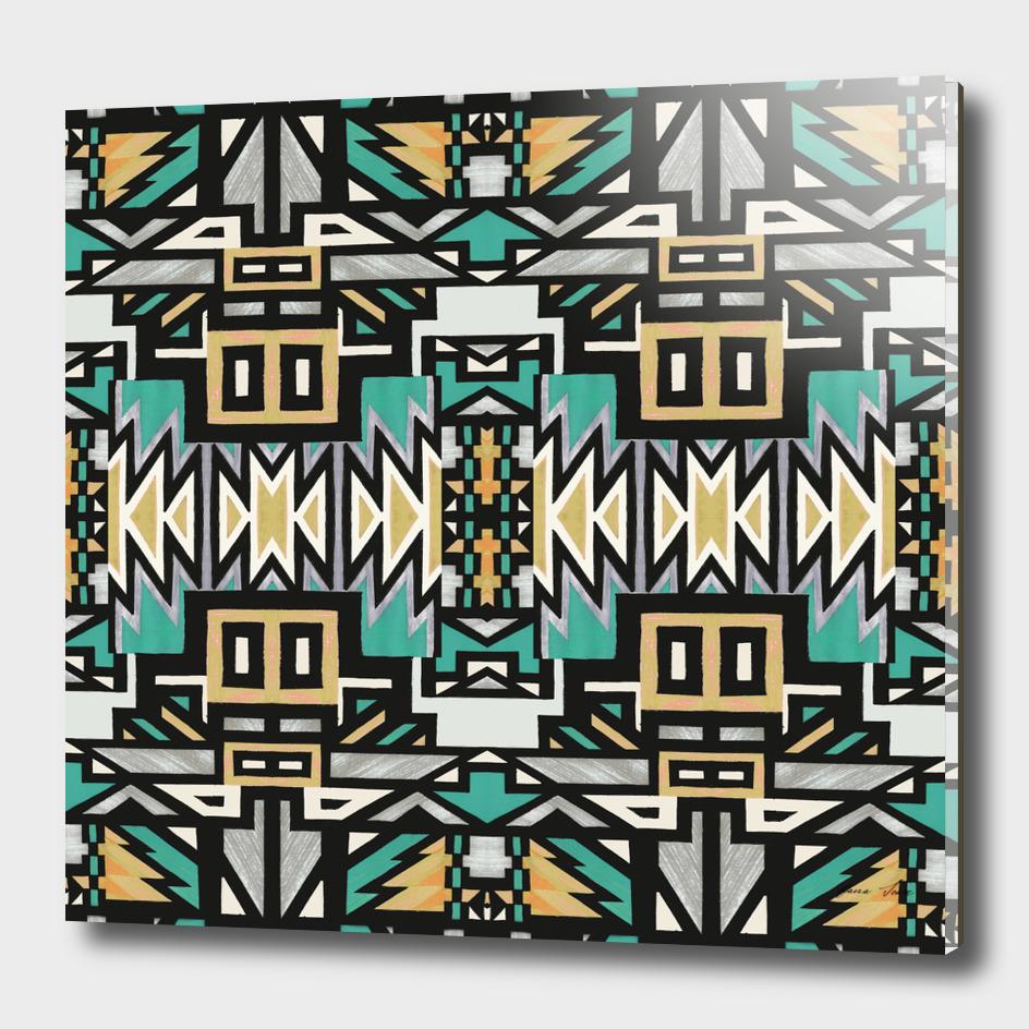 African Tribal Geo pattern