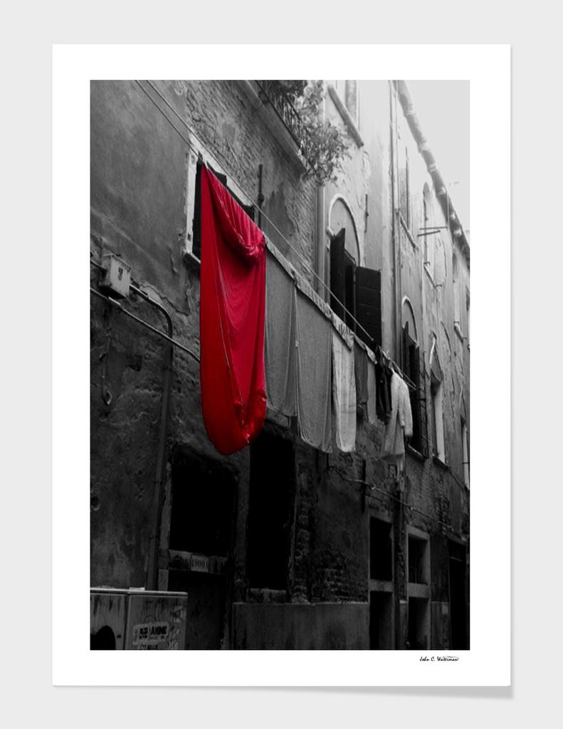 Superman's laundry Day, Venice Italy