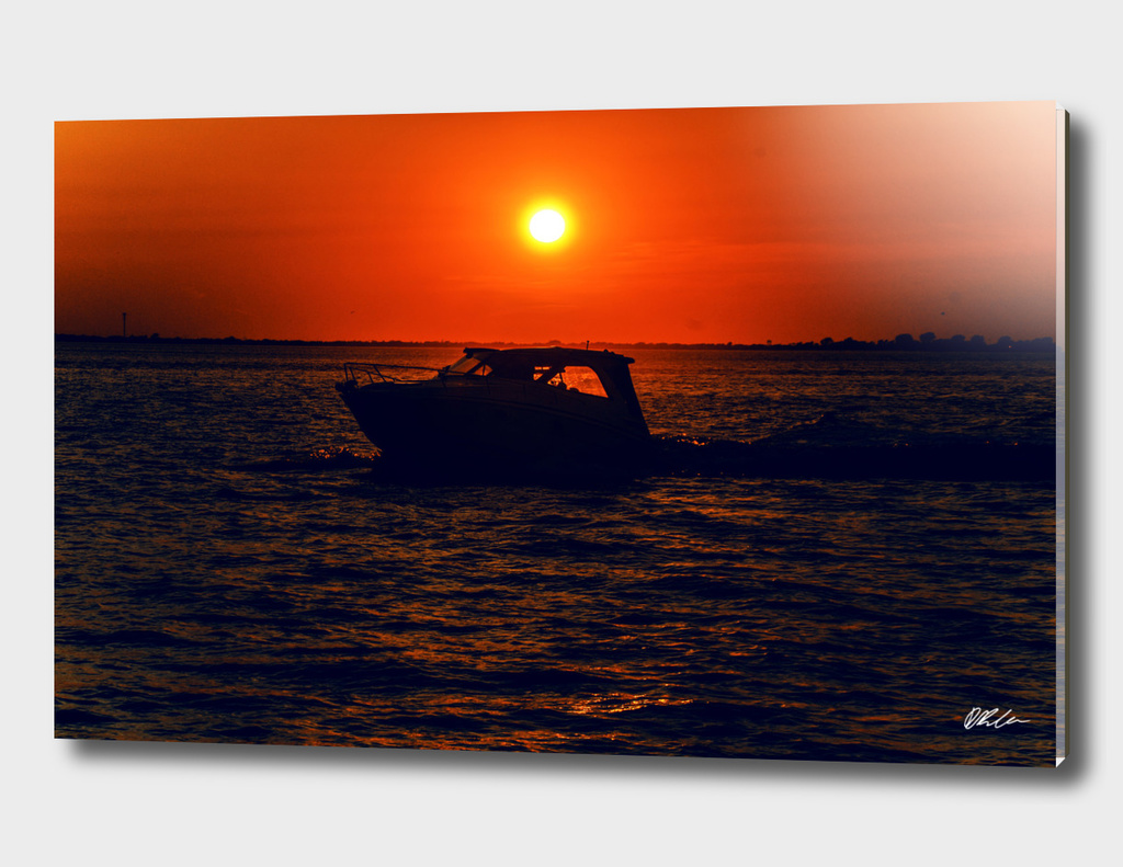 Sunset with Speedboat (Fire Island)