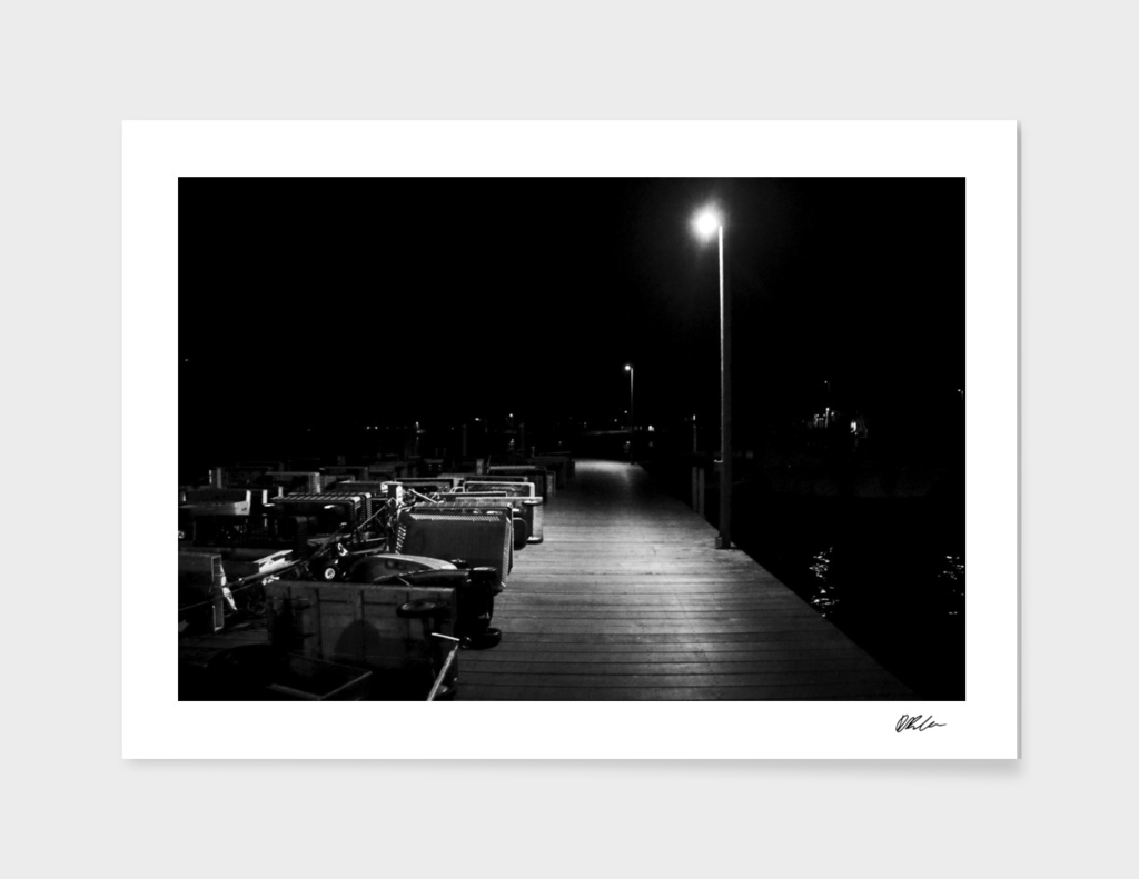 The Deck at Night (Fire Island)