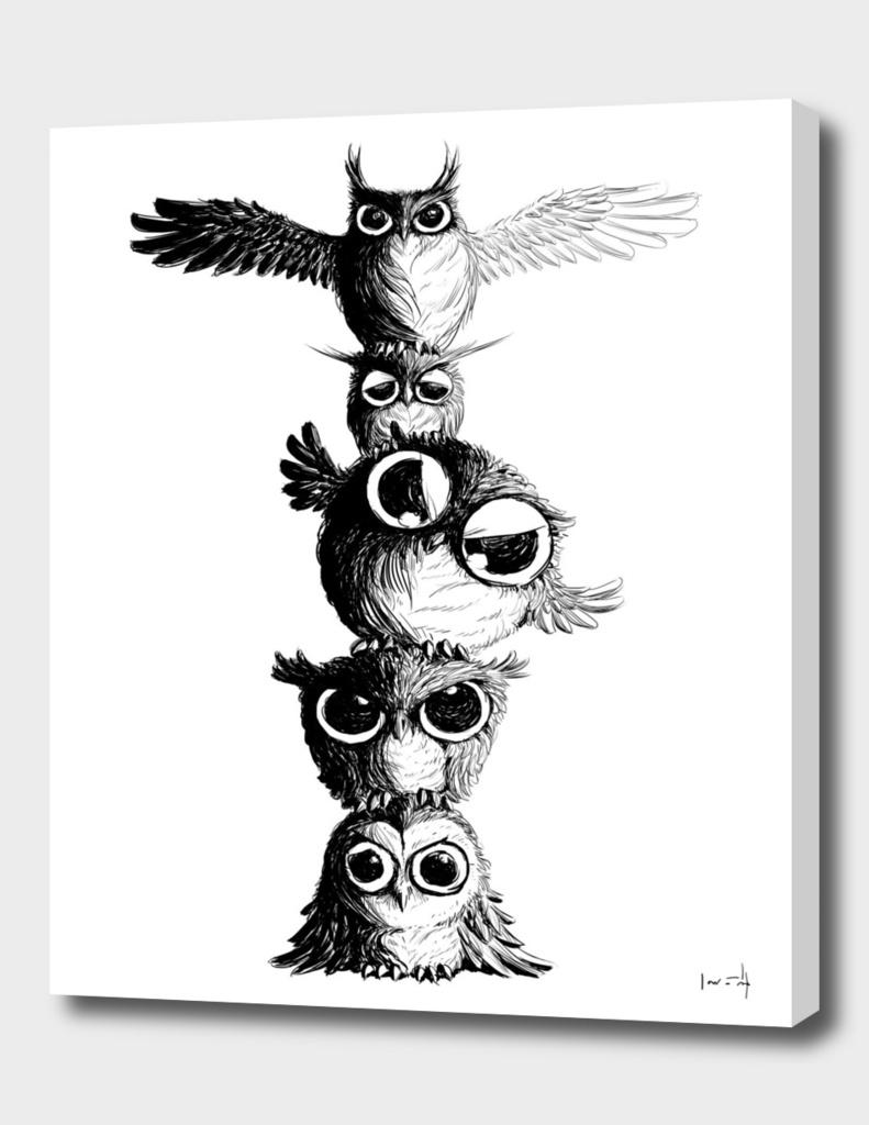Owl Totem - line