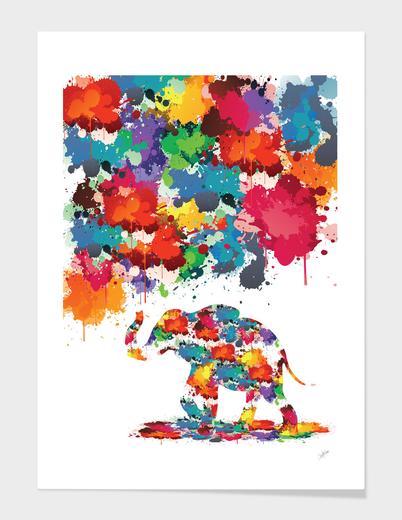 Paint splash Elephant