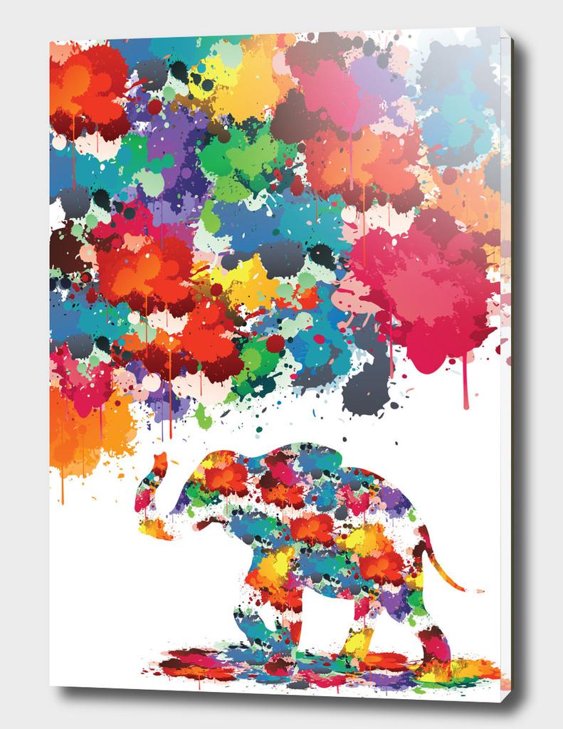 Paint splash Elephant