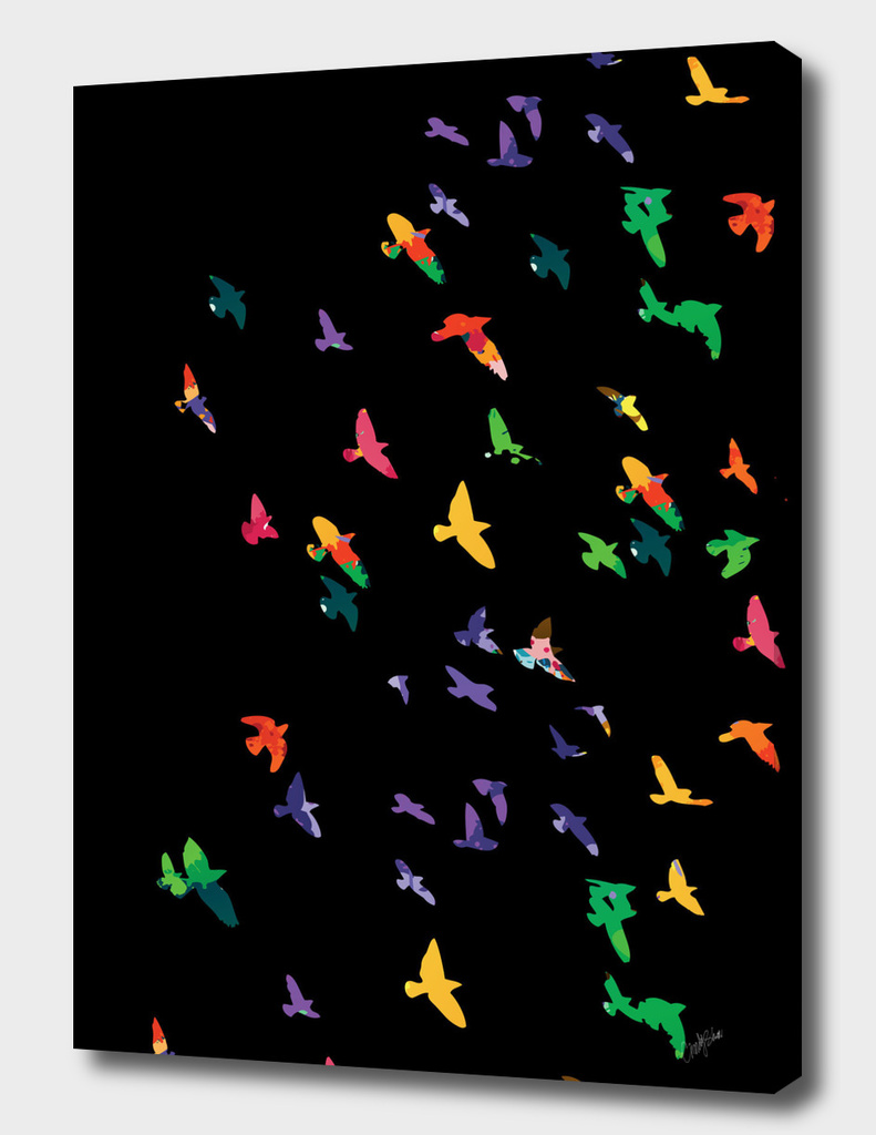 Colorful Flying birds