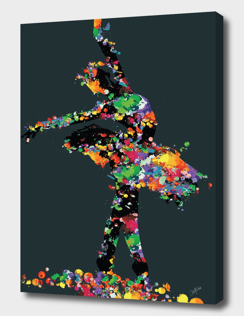 ballerina with paint splash