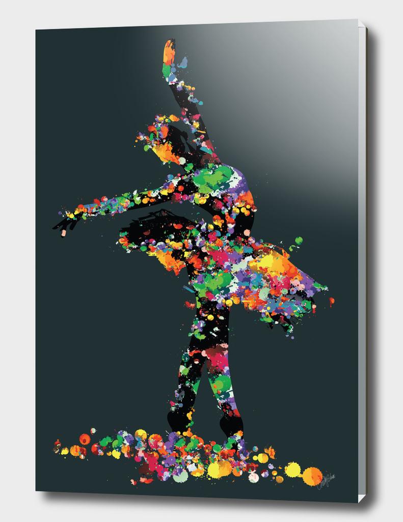 ballerina with paint splash